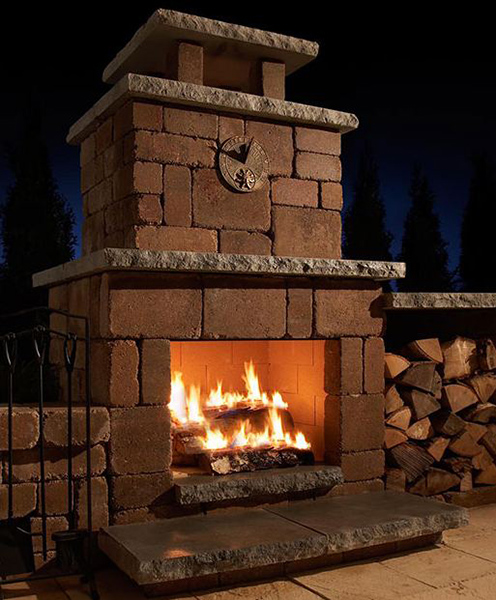 Rochester Concrete Compact Fireplace Kit