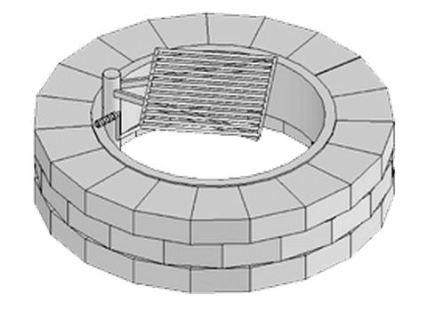 Rochester Concrete Grand Fire Ring with Grate