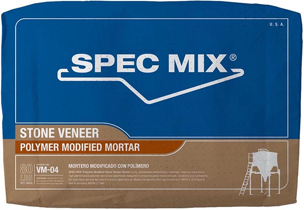 Spec Mix Polymer Modified Stone Veneer Mortar